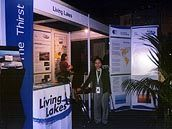 Living Lakes Network booth at the Water Dome